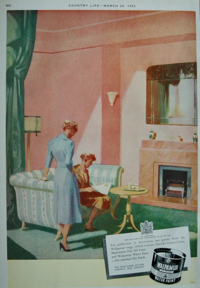 Advert for Walpamur Water Paint