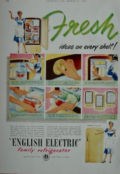 Advert for English Electric - Refrigerator