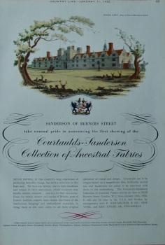 Advert for 'Sanderson of Berners Street'