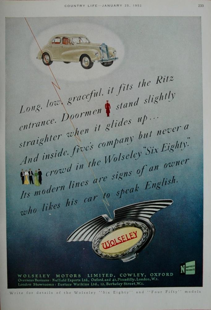 Advert for 'Wolseley'