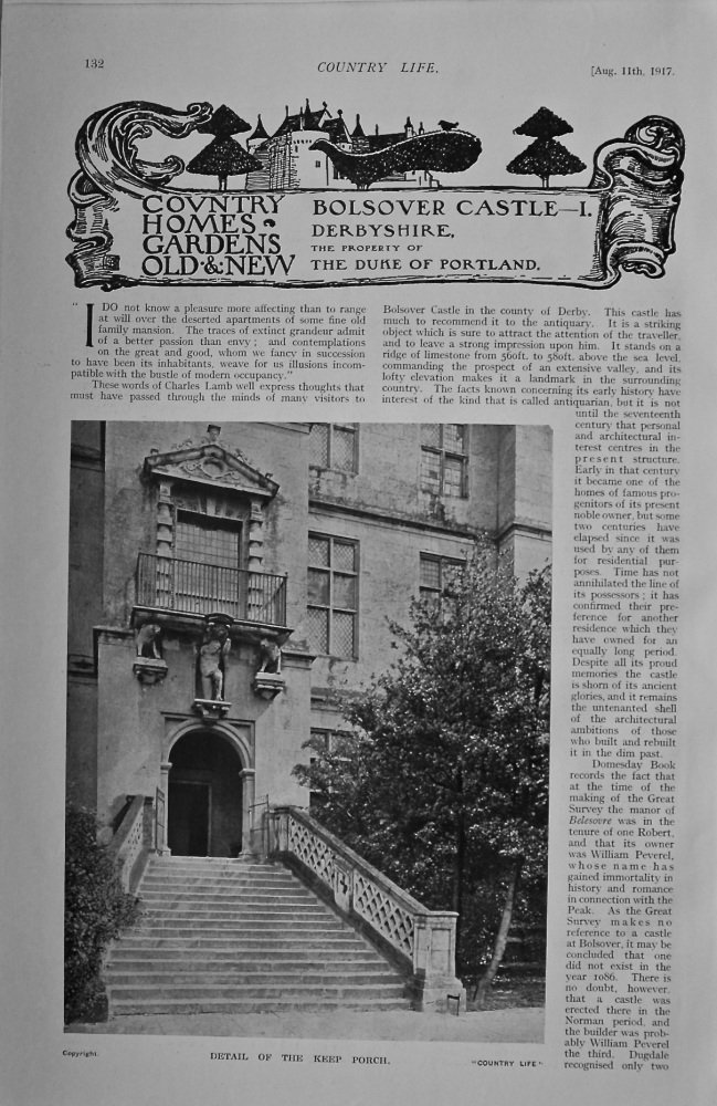 Country Life - Bolsover Castle 1917