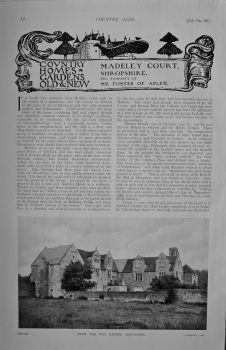 Country Life - Madeley Court