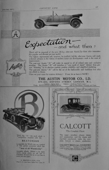 Austin Motor Co and 2 other adverts