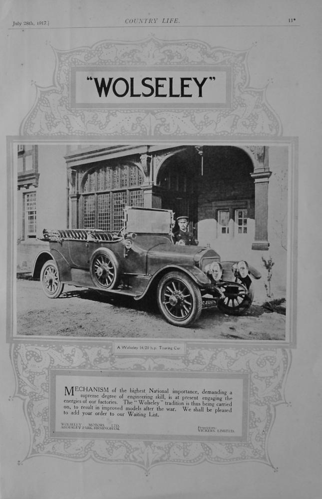 Wolseley 16/20 advert