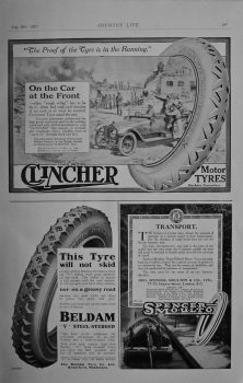 Clincher Tyres and 2 other adverts
