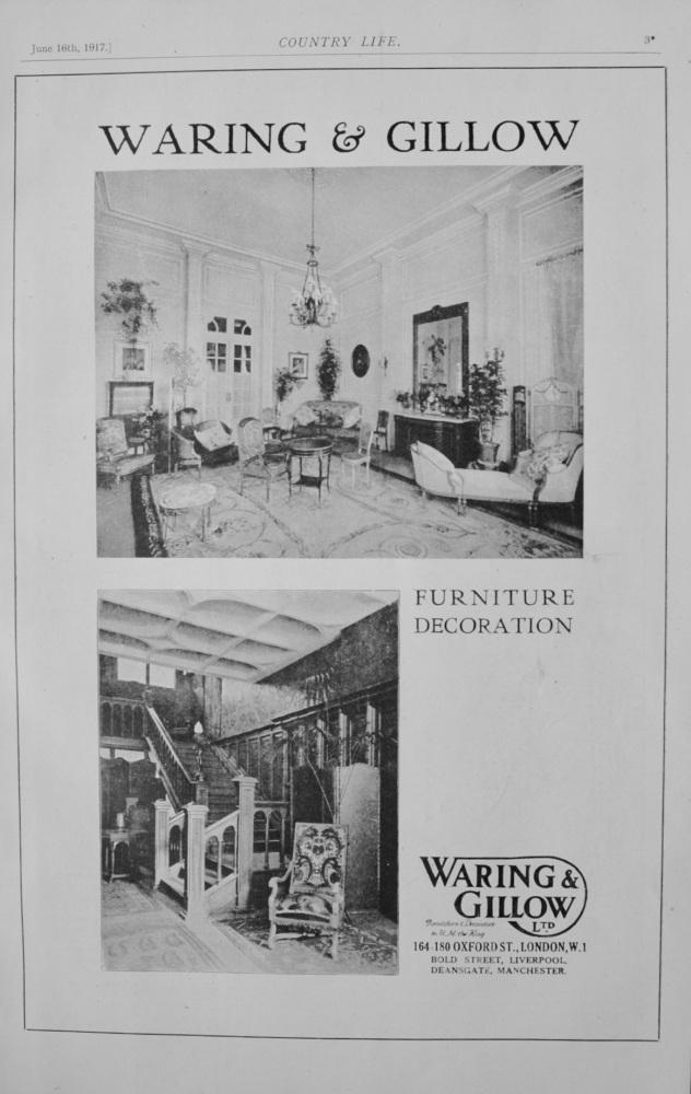 Waring & Gillow Ltd. June 16th, 1917.