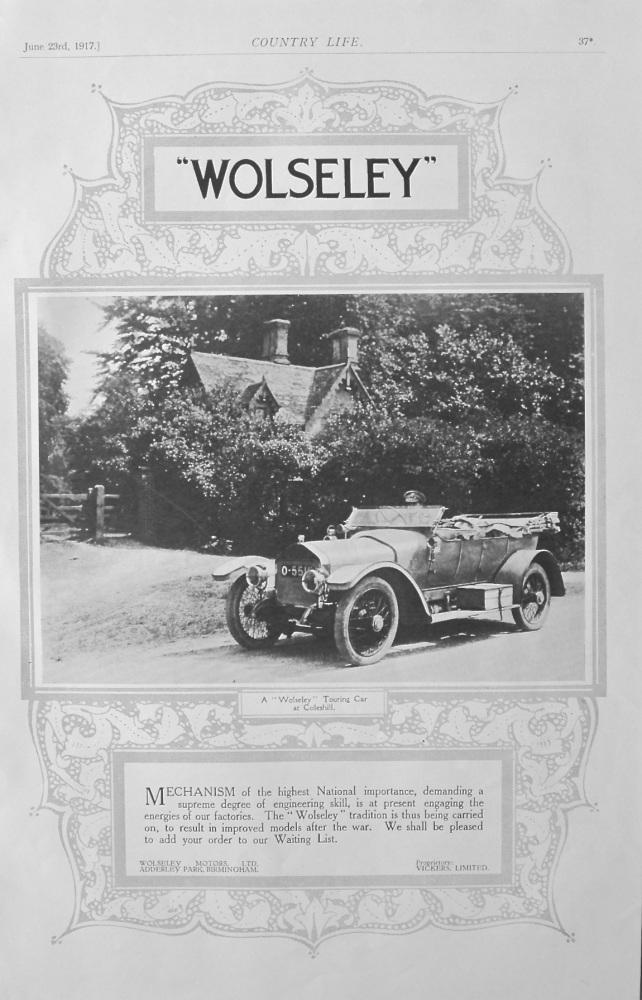 Wolseley Advert - Coleshill