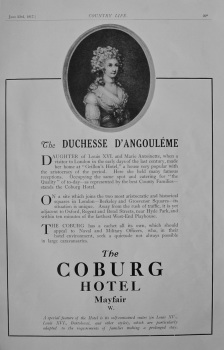 Coburg Hotel Advert