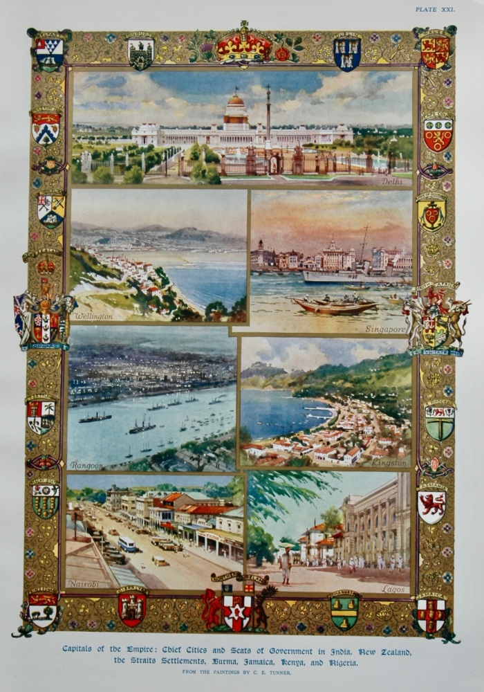 Capitals of the Empire : Chief Cities and Seats of Government in India, New Zealand, the Straits Settlements, Burma, Jamaica, Kenya, and Nigeria.  193