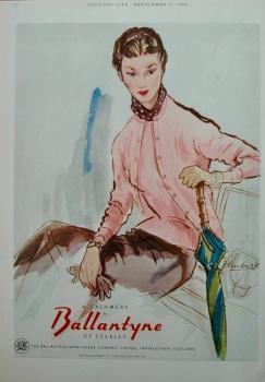 Ballantyne of Peebles colour advert