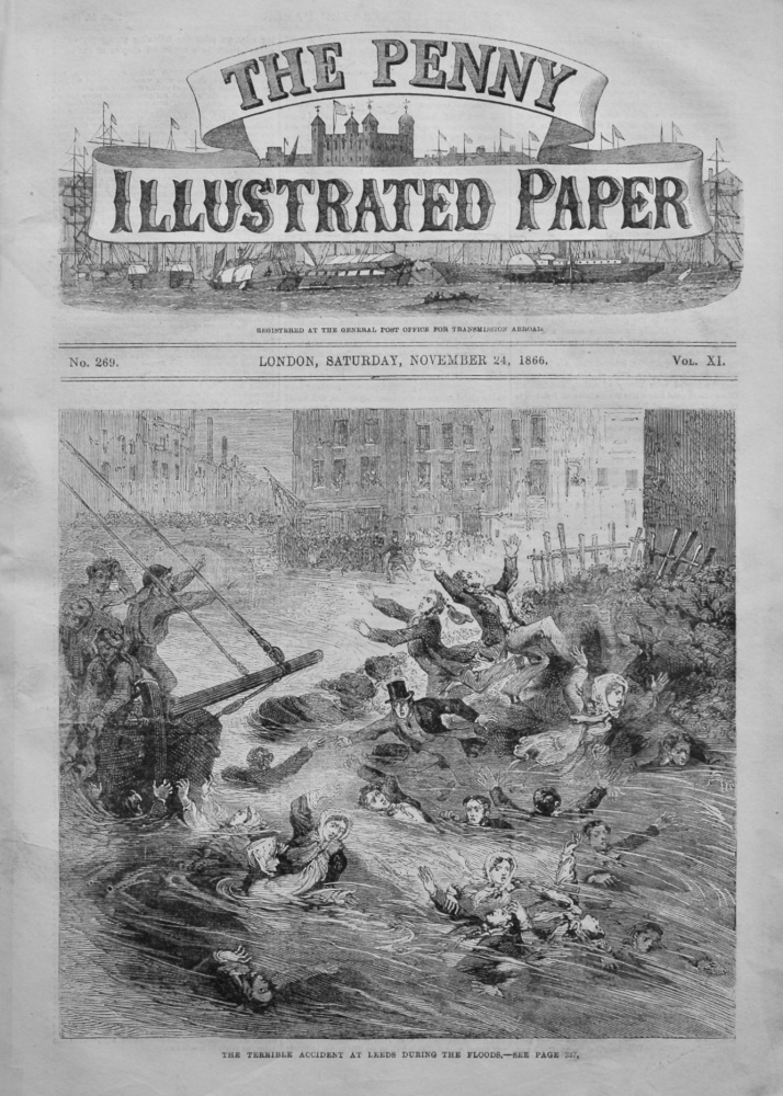 The Penny Illustrated Paper.  November 24th, 1866.