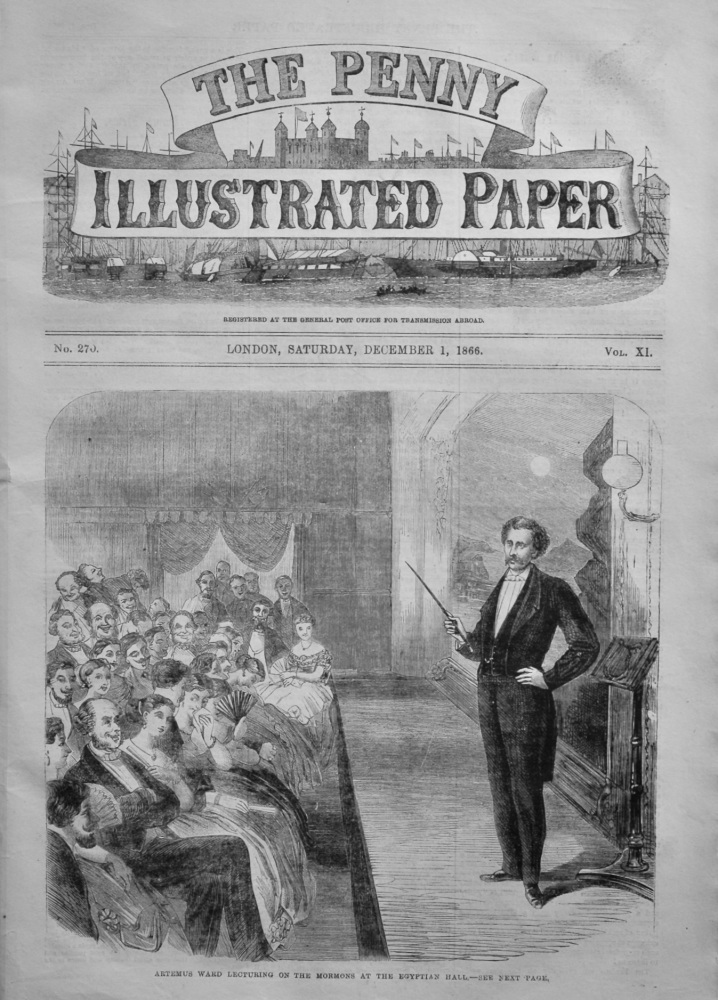 The Penny Illustrated Paper.  December 1st, 1866.