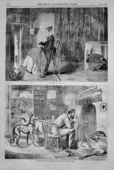 """""""A Spinster in England."""" &  """"A Bachelor in Australia.""""  1866."""