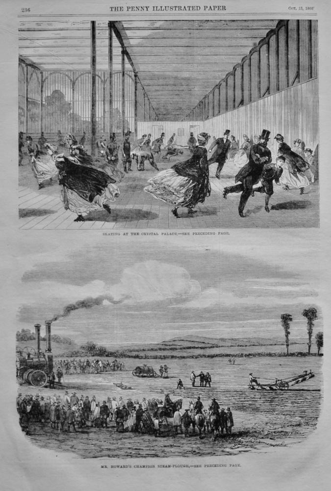 Skating at the Crystal Palace.  1866.