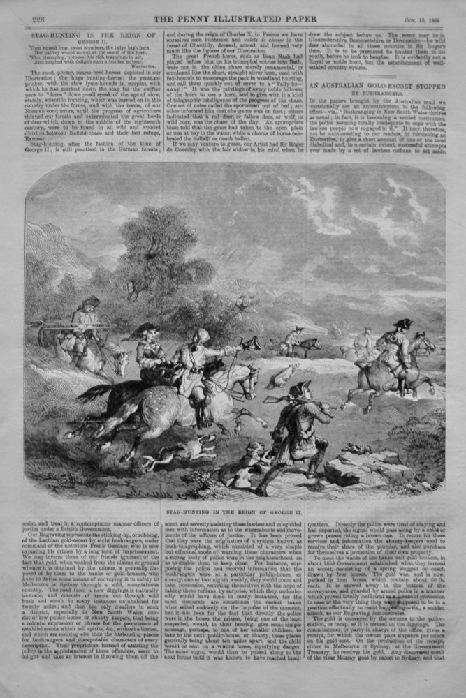 Stag-Hunting in the Reign of George II.  1866.