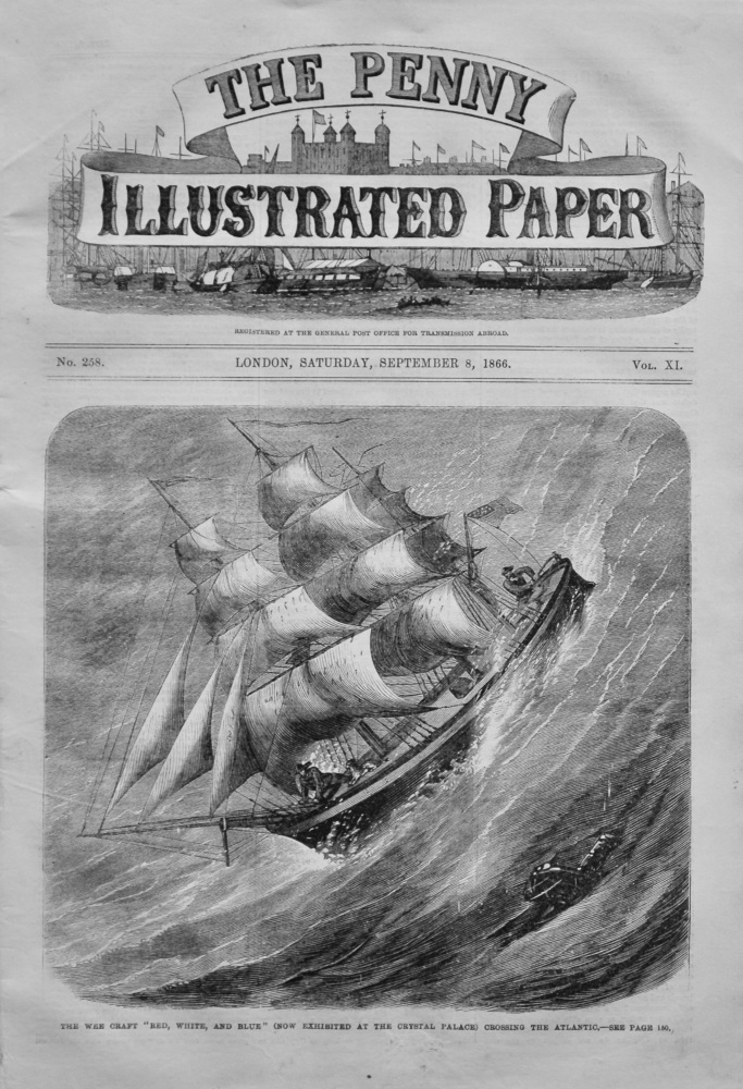 The Penny Illustrated Paper,  September 8th, 1866.
