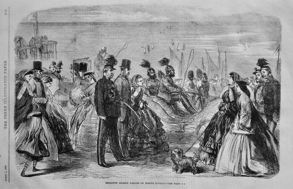 Brighton Marine Parade on Easter Sunday.  1866.