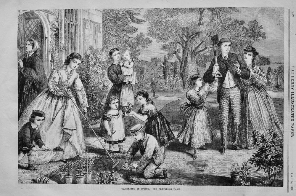 Gardening in Spring. 1866.