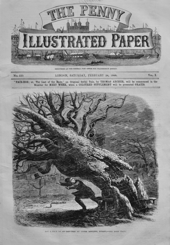 The Penny Illustrated Paper.  February 24th, 1866.