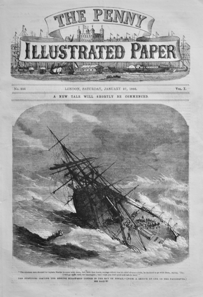 The Penny Illustrated Paper. January 27th, 1866.