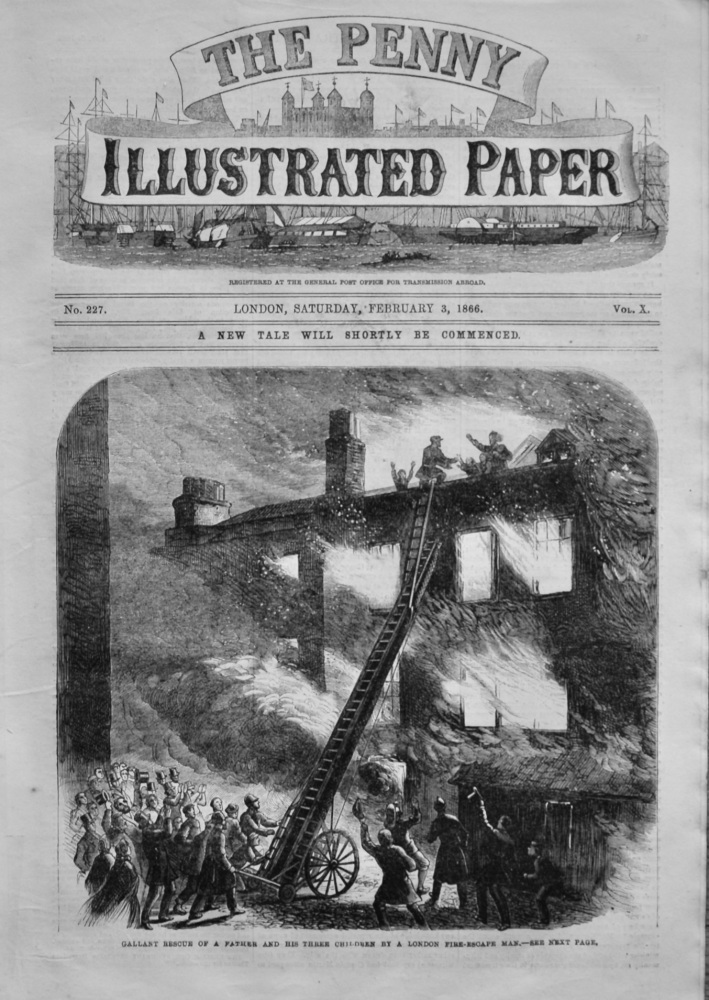 The Penny Illustrated Paper,  February 3rd, 1866.
