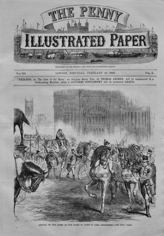 The Penny Illustrated Paper. February 10th, 1866.
