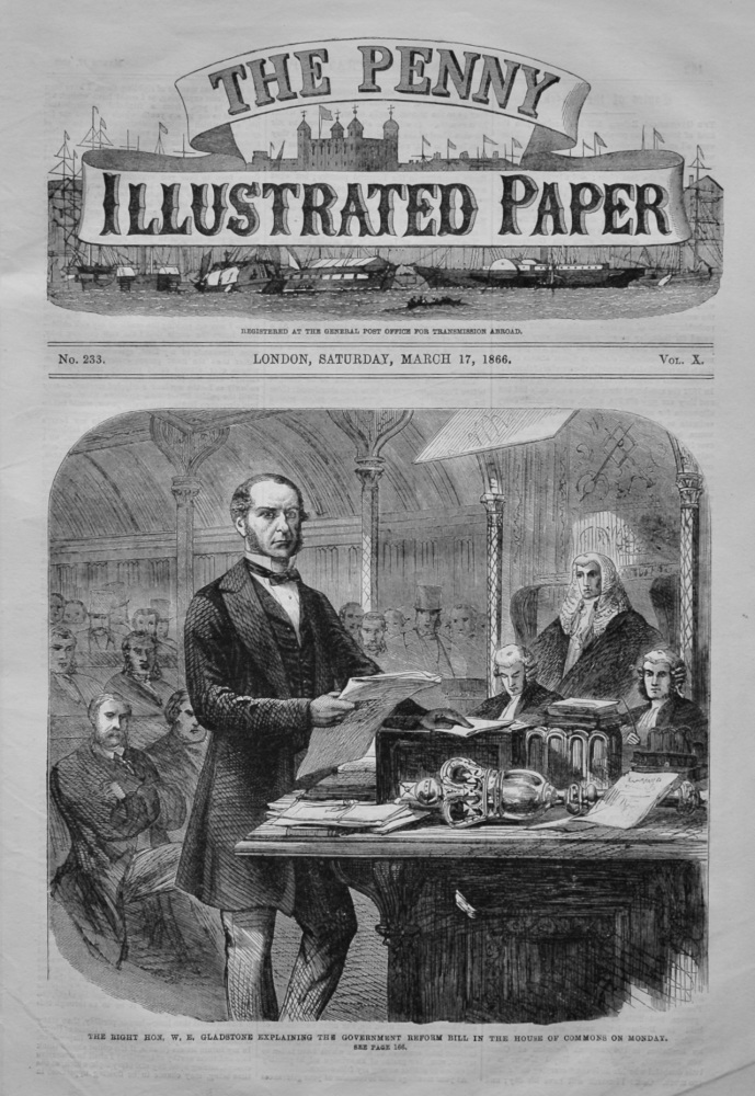 The Penny Illustrated Paper,  March 17th, 1866.