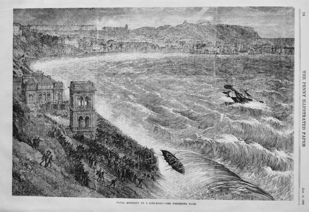 Fatal Accident to a Life-Boat.  1866.