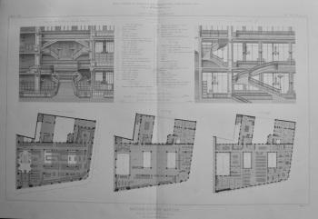 Maison Du Bon Marche.  1873. (Plans).