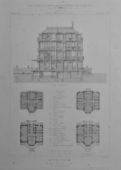 Hotel Prive, Boulevard Exelmans, a Auteuil. 1873. (Plans).