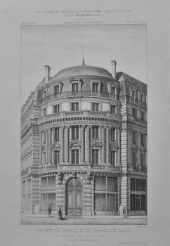 Societe De Depots et de Comptes Courants, Place de L'Opera, No. 2, a Paris.  1873.