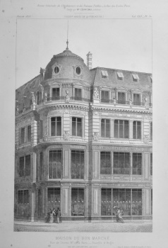 Maison Du Bon Marche, Rue de Sèvres, No. 20, a Paris__Tourelle d'Angle.  1873.