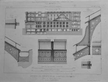 Societe De Depots et de Comptes Courants, Place d L'Opera, No. 2, a Paris.  (Details) 1873.