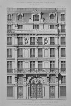 Depot Des Forges et Fonderies du Val D'Osne. Boulevard Voltaire, No. 58, a Paris__ Elevation Principale.  1873.