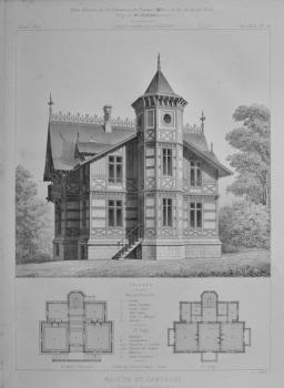 Maison De Campagne, a Limoges (Haute - Vienne).  1873.
