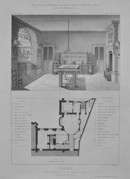 Cuisine. Hotel De Mr. Menier, au Parc Monceaux, a Paris.  1873.