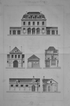 Ecole D'Equitation et de Dressage. a Caen  (Calvados).  1873.