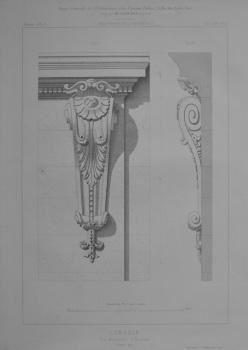 Console. Rue Maletache, a Toulouse.  (Louis XIII).  1873.