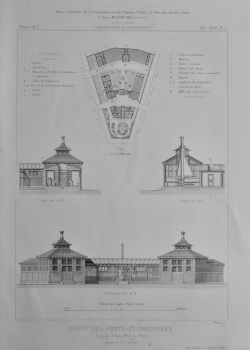 Depot Des Ponts - Et - Chaussées. Avenue d'lena, No. 3, a Paris. 1873. (Plans)