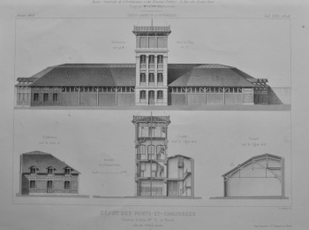 Depot Des Ponts-Et-Chaussees.  Avenue d'lena, No. 3, a Paris.  1873.