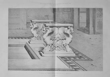 Pieds De Table De La Maison De C. Rufus.  Pompei.  1873.