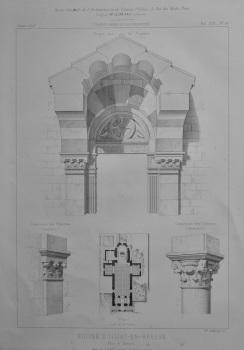 Eglise D'Illiat-En-Bresse.  Plan et Details.  1873.