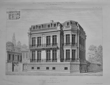 Hotel, Rue Francois 1er. No. 30, a Paris ___ Vue generale.  1873.