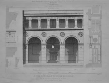 Ecole Nationale Spéciale De Dessin. Rue de L'Ecole de Médecine, No. 5, a Paris.  1873.