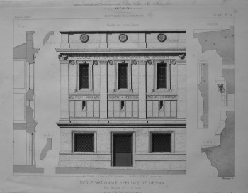 Ecole Nationale Spéciale De Dessin, Rue Racine, No. 5, a Paris.  1873.