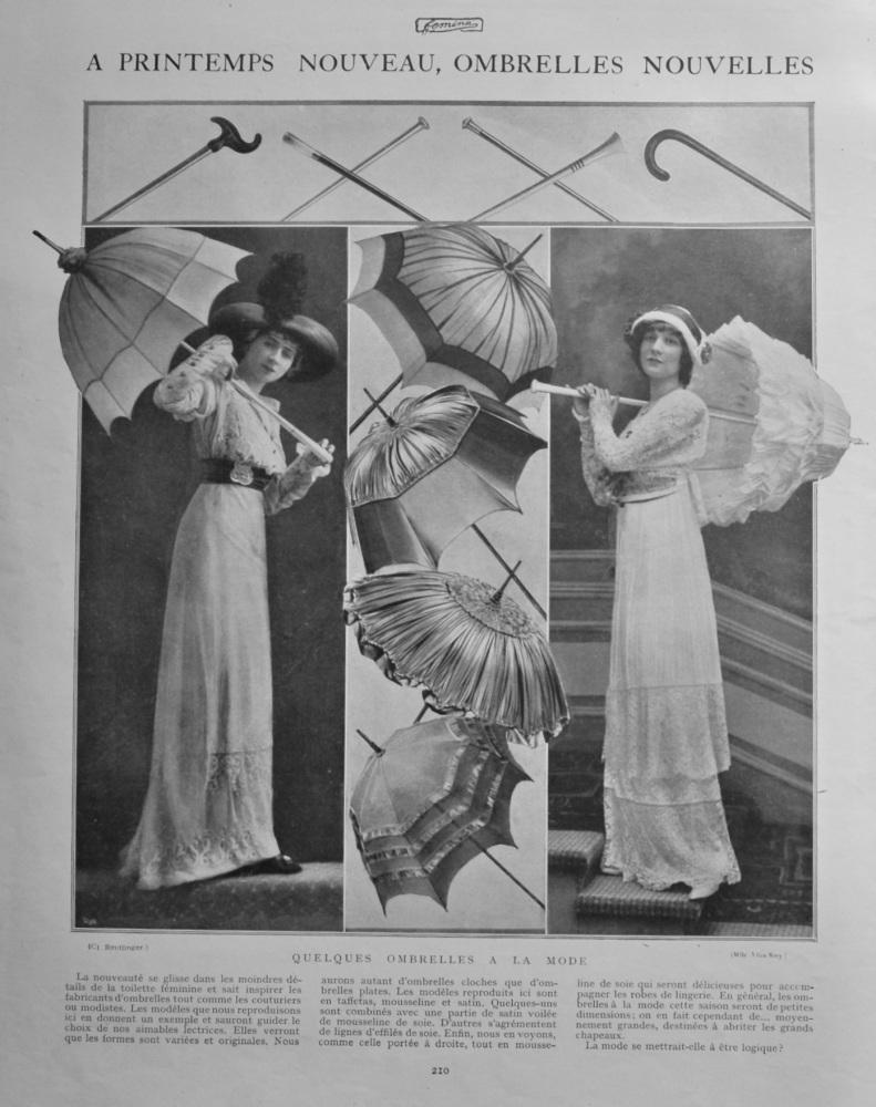 A Printemps Nouveau, Ombrelles Nouvelles.  1912.