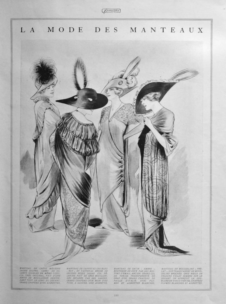 La Mode Des Manteaux. (Coats).  1912.