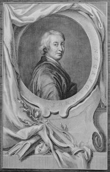 John Dryden.  (Copper Portrait Engraving).