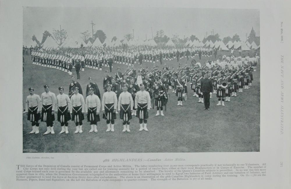 48th Highlanders - Canadian Active Militia.  1896.