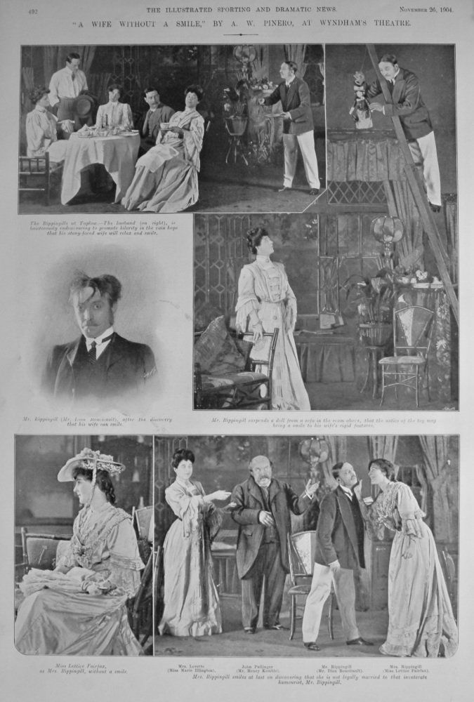 """""""A Wife Without A Smile,"""" By A. W. Pinero, at Wyndham's Theatre. 1904."""